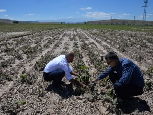 Yaşilhisar'daki hasar tespit çalışmaları drone ile yapıldı