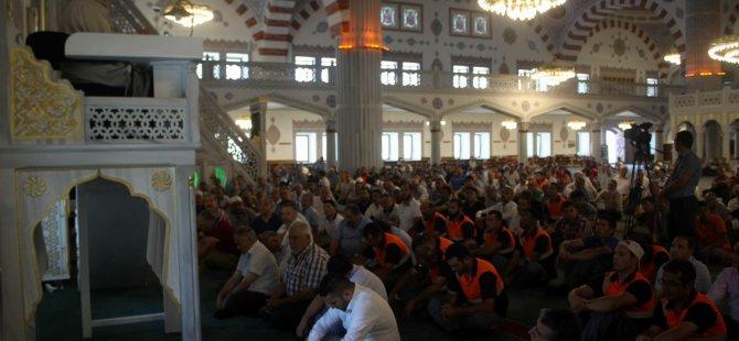 KOSB'DA demokrasi şehitleri için dua okundu
