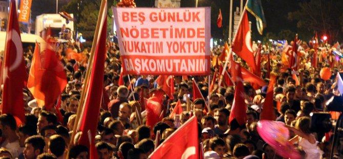 Kayseri'de demokrasi nöbeti 5 gün