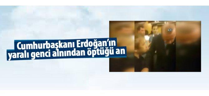 Erdoğan o gece yaralıyı alnından öptü