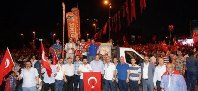 Kayseri OSB'den 15 Temmuz şehit ve gazi ailelerine destek