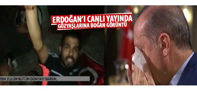 Cumhurbaşkanı Erdoğan canlı yayında gözyaşlarına boğuldu