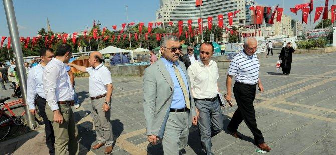 Kayseri Cumhuriyet Meydan'ı yenileniyor
