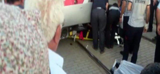 Kayseri'de Yaşlı adam tramvayın altında kaldı