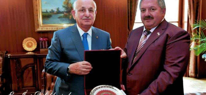 KOSB Başkanı Nursaçan, TBMM Başkanı Kahraman'ı ziyaret etti