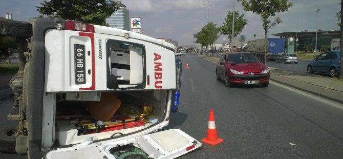 Kayseri'de Kazaya karışan ambulans 90 metre sürüklendi