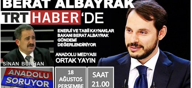 BERAT ALBAYRAK TRT HABER'DE