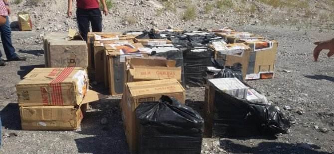Kayseri'de Polis 21 bin 600 paket kaçak sigara ele geçirdi