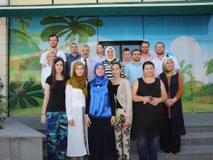 KAYMEK'in Kayseri'deki kurs merkezlerini gezdiler