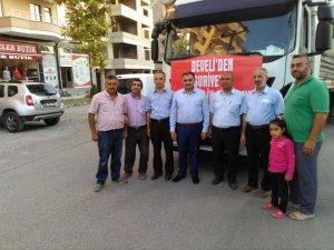 Develi Müftülüğü'nden Suriye ve Bayırbucak'a yardım TIR'ı gönderildi