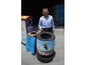 Melikgazi Belediyesi atık lastikleri ekonomiye geri kazandırıyor
