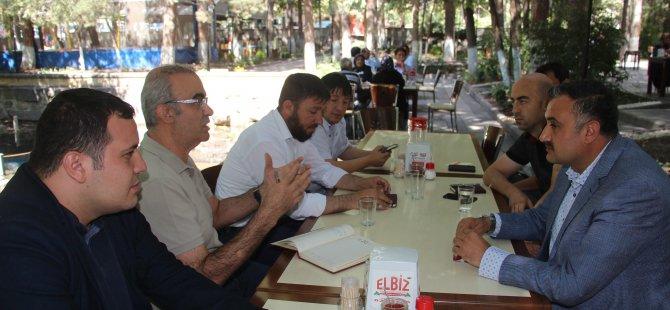 Başkan Cabbar basın mensuplarıyla istişare etti