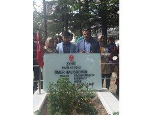 Başkan Cabbar şehit Ömer Halisdemir'in kabrini ziyaret etti