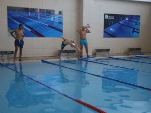 Melikgazi'de 2 bölgede gençler 365 gün  yüzebilecek