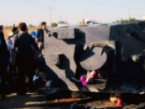 KAYSERİ'DE POLİS ARACI DEVRİLDİ:1 POLİS ŞEHİT 2 YARALI