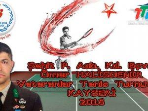 Şehit Ömer Halisdemir adına Tenis Turnuvası düzenlenecek