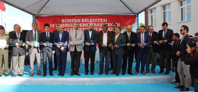 Erdoğan Bünyan'da Şehit Cennet Yiğit'in adını taşıyan parkın açılışına katıldı