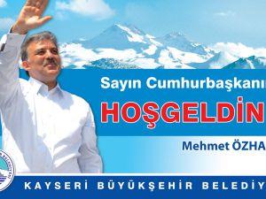 ABDULLAH GÜL'ÜN KAYSERİ'DE Kİ YOĞUN PROGRAMI