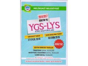Melikgazi Belediyesi'nden ücretsiz YGS–LYS kursları