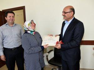 Kocasinan'da Hanımlar ince elediler sık dokudular sertifikayı aldılar