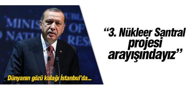Erdoğan Enerji Kongresi'nde konuştu