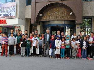 Akkışla İmam Hatip Ortaokulu ve Atatürk Ortaokulu Öğrencilerinden İl Müftülüğünü ziyaret etti