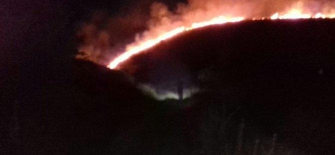 Erciyes dağı'nda yangın