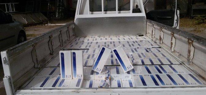 Kayseri'de İki Suriyeli 3 bin 500 paket kaçak sigara ile yakalandı
