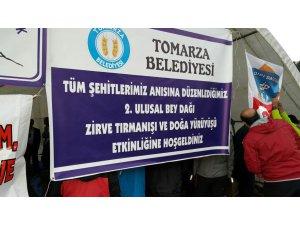 2. Ulusal Tomarza Beydağı zirve tırmanışı coşkuyla gerçekleşti