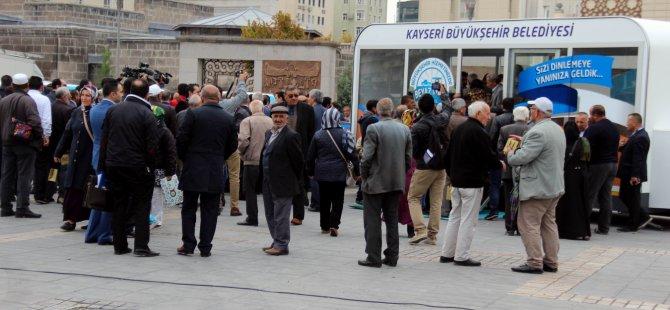 Kayseri'de Mobil Beyaz Masa ve Kent Timi vatandaşın hizmetinde