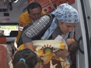 Belsin'de 3 Aylık Bebeğin Üzerine Televizyon Düştü