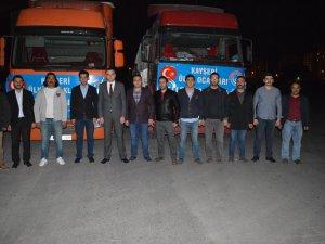 Ülkü Ocakları'ndan Türkmendağı ve Cerablus'a 2 TIR yardım