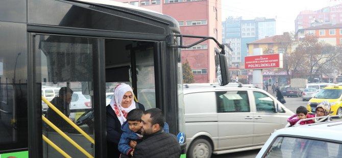 Kayseri Büyükşehir Belediyesi tarafından ring seferleri başlatıldı