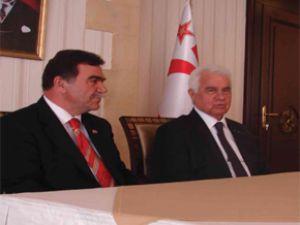 KAYSERİ ESNAF KIBRIS CUMHURBAŞKANI EROĞLU'NU ZİYARET ETTİ