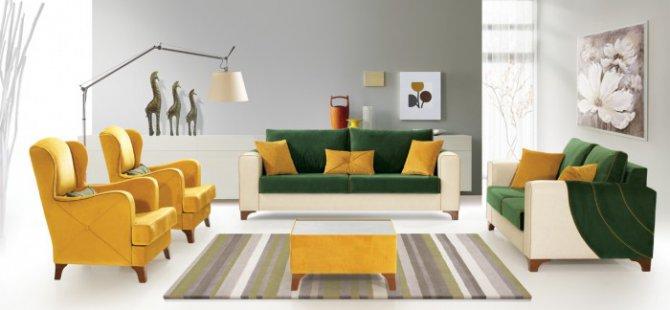 İyi tasarlanmış ve renkleri doğru kullanılmış bir  mobilya...