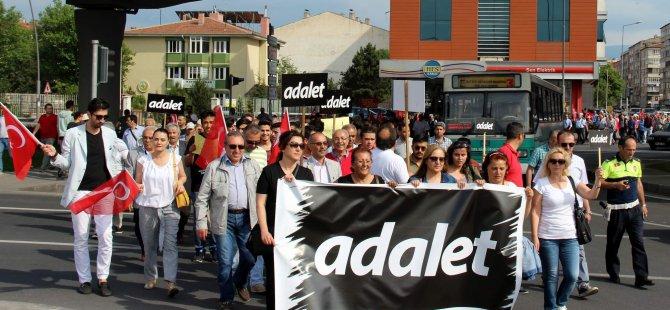 CHP'liler Kayseri Adliyesine kadar yürüdü