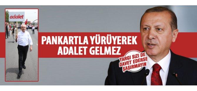 Erdoğan'dan CHP'nin yürüyüşüne ilk tepki yollar yürümekle aşınmaz