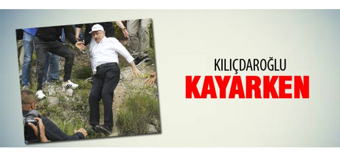 Kılıçdaroğlu kayarak düştü-video