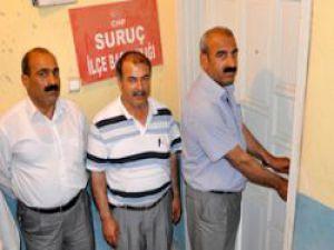 CHP Suruç İlçe Başkanı Şahin  Kapıya Kilidi Vurdu