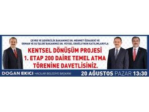 HACILAR'DA TEMEL ATMA TÖRENİ