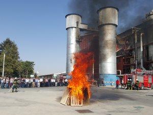 Kayseri Şeker'de acil durum ve yangın tatbikatı