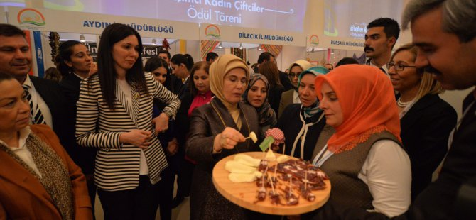 Emine Erdoğan Kayseri pastırması ikram etti