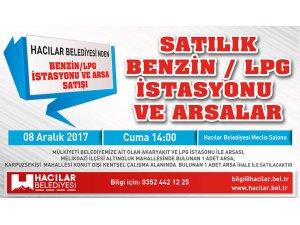 Hacılar Belediyesi'nden satılık Benzin/Lpg istasyonu