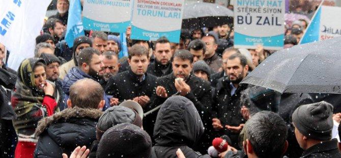 Kayseri'de ABD ve İsrail protesto edildi