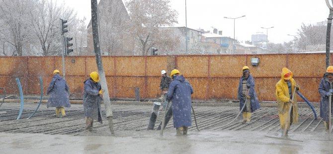 Erciyes'e 6 sefer kar yağar, 7'nci şehir içine yağar