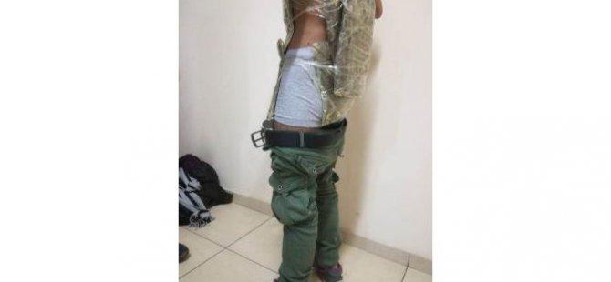 Kayseri'de Afganlı şahsın vücuduna sarılı 8 kilo esrar gele geçirildi