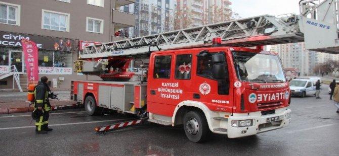 Talas'ta Evde çıkan yangını itfaiye ekipleri söndürdü