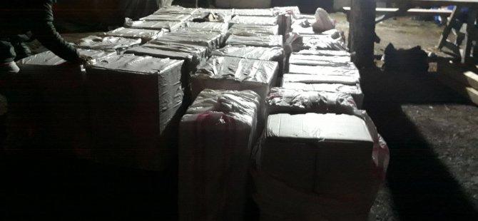 Polis 40 bin kaçak sigaraya el koydu