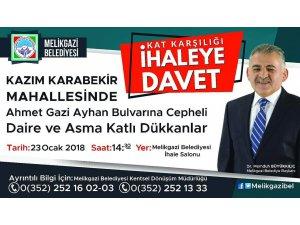 Melikgazi Belediyesi İhaleye davet:
