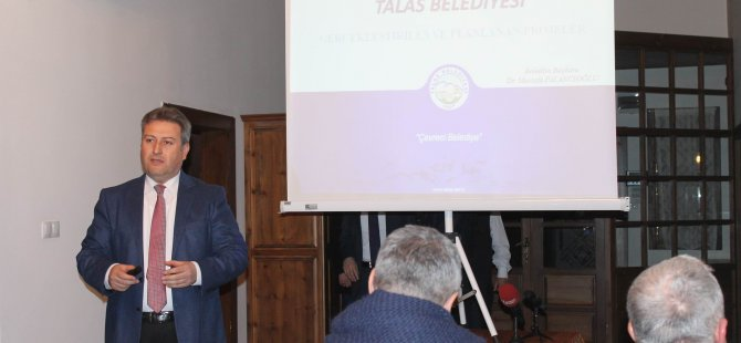Talas Belediye Başkanı Mustafa Palancıoğlu 2017 yatırımlarını anlattı